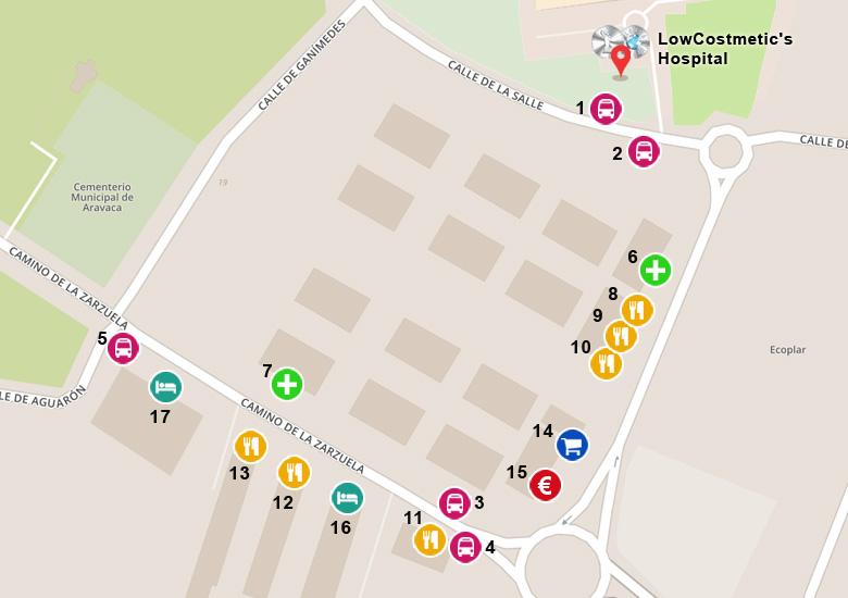 Hospital Nisa - mapa local